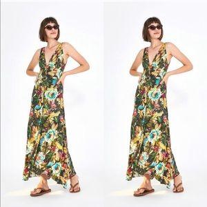 Farm Rio Garden Dreams V Neck Maxi Dress